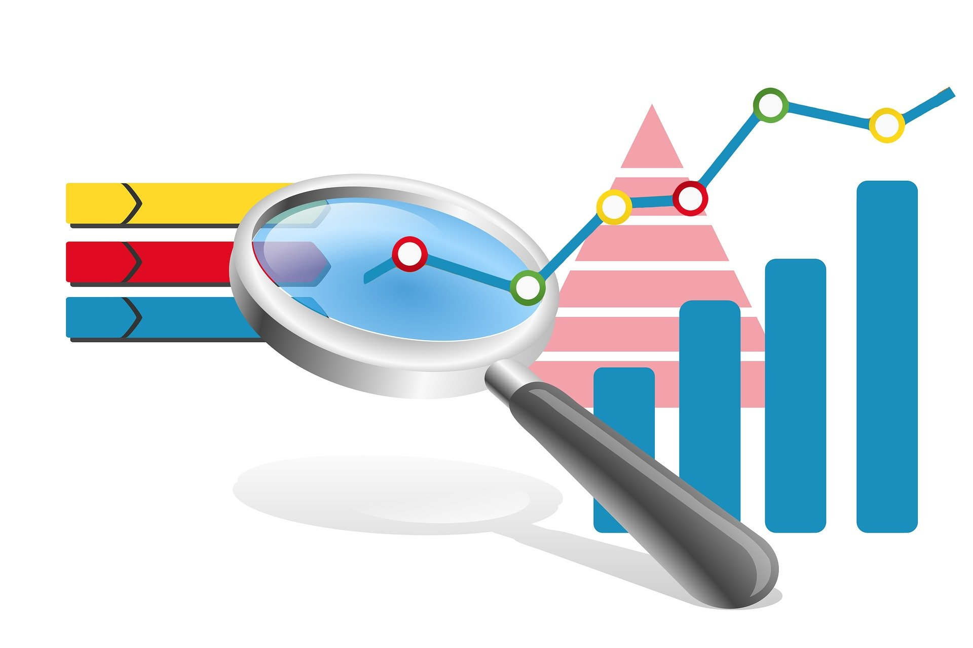 Keyword-Analyse Lupensymbol und Diagramme
