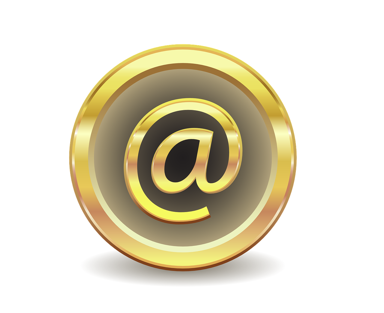 E-Mail @ Zeichen Gold