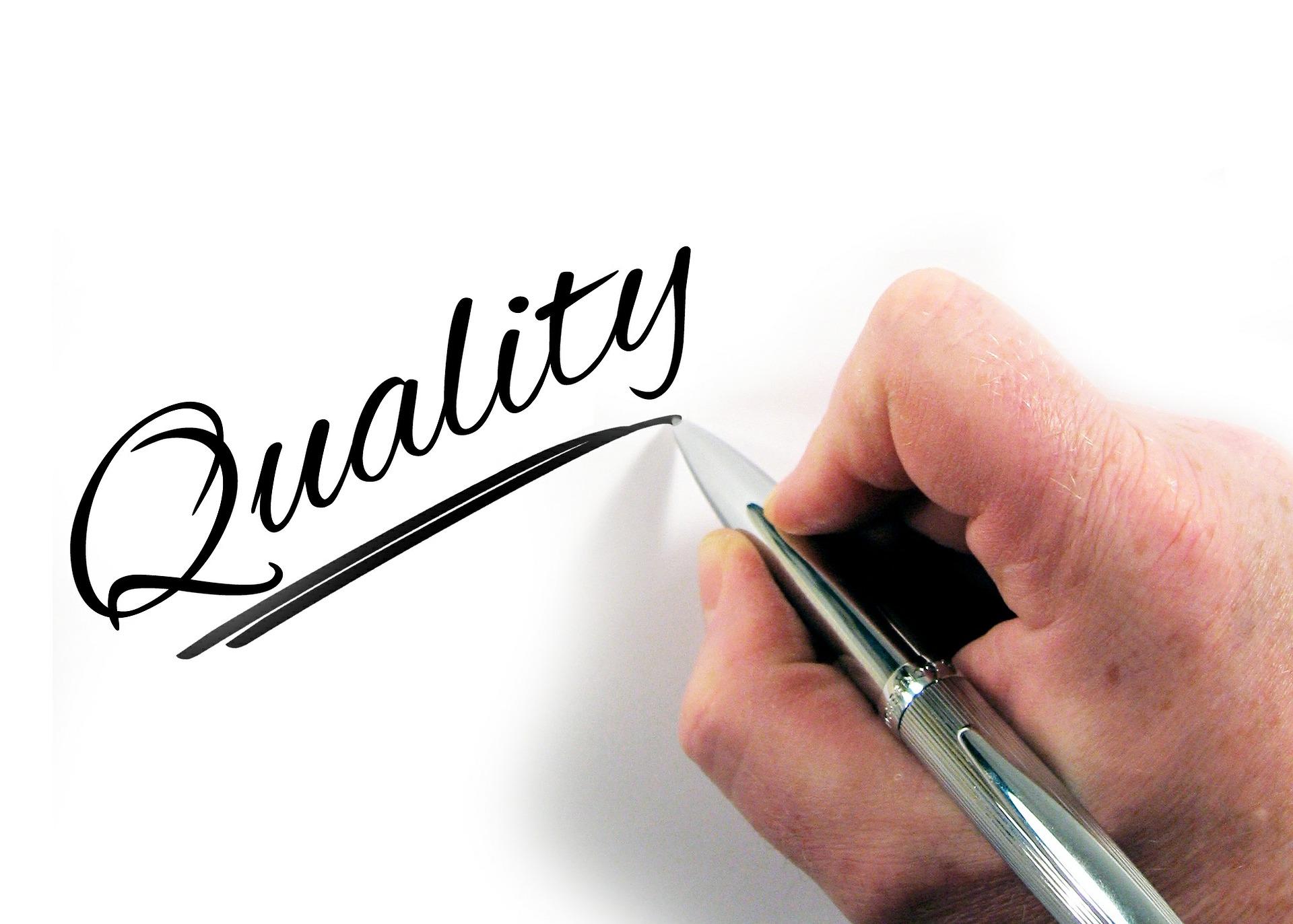 Qualität geht vor  Quantität
