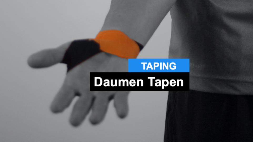 Daumen Tapen - Kinesiologie Taping Anleitung Daumen