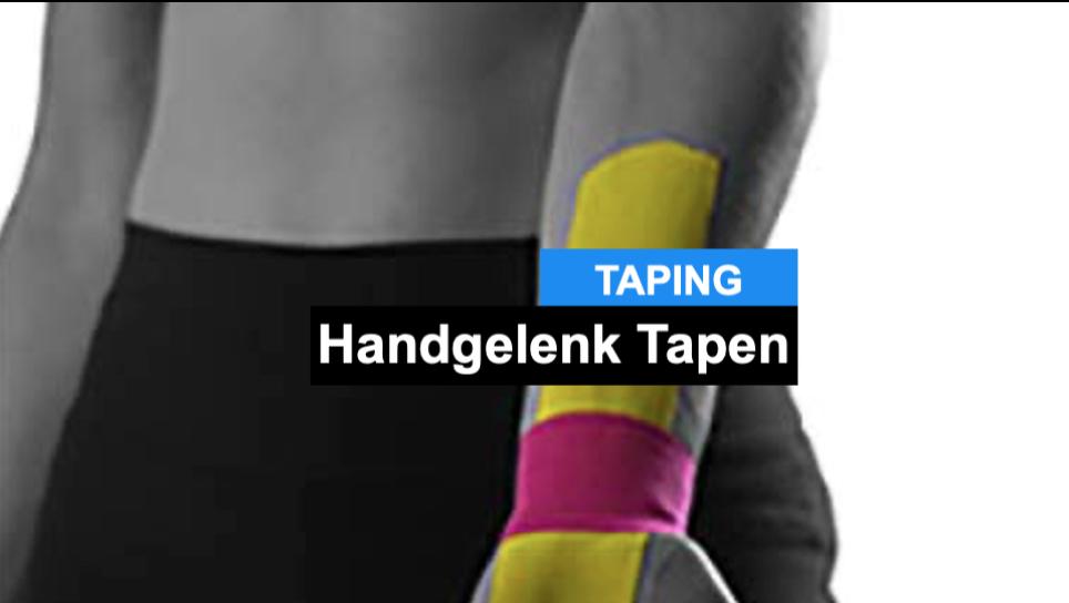 Handgelenk tapen: Wie du dein ganz einfach mit einer Taping-Anlage dein Handgelenk entlasten kannst!