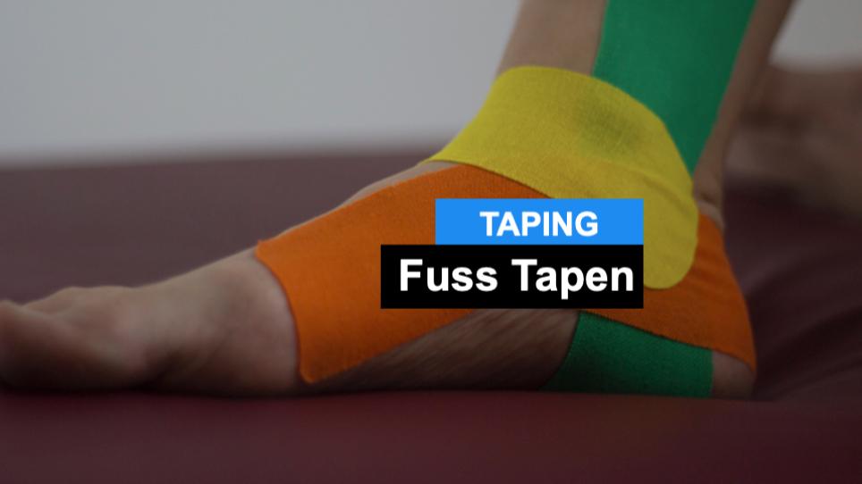 Fuß Tapen - Kinesiologische Taping Anleitung für den Fuss