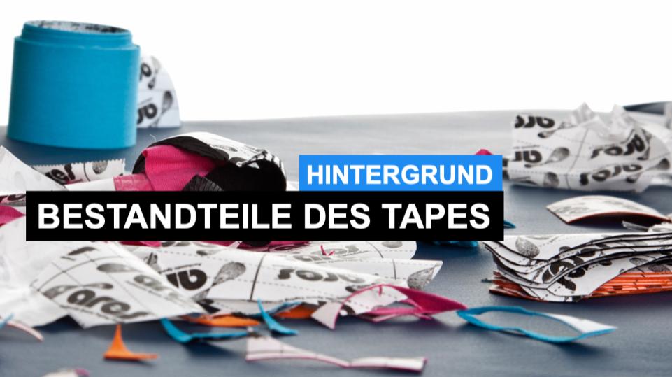 Woraus bestehen Kinesiologische Tapes und was sind die möglichen Vorteile und Nachteile der Materialien?