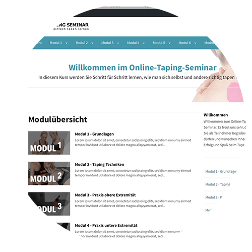 willkommen im online taping seminar