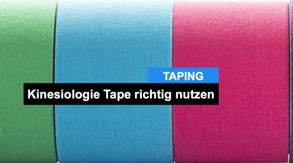 Kinesio Tape - so benutzt du es richtig!