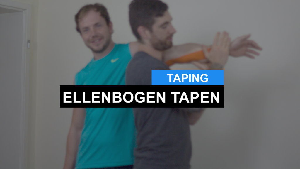 Kinesiologie Taping Anleitung Ellenbogen / Unterarm