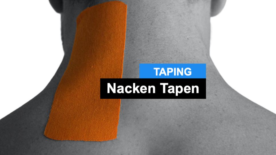 Nacken Tapen - Kinesiologie Taping Anleitung Halswirbelsäule