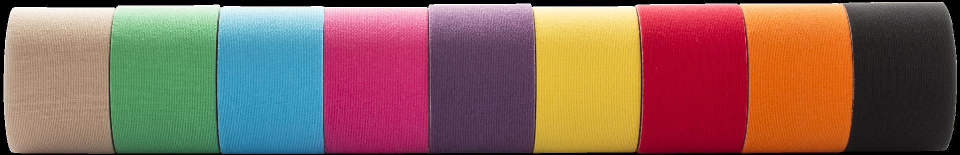Kinesio Tape verschiedene Farben, Kinesio Tape blau, kinesio tape beige, kinesio tape rot