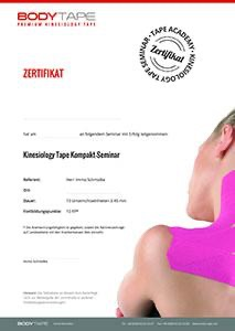 Zertifikat tape kurs in Frankfurt am 25.09.2021