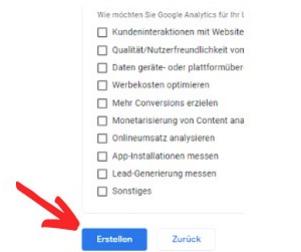 Google Analytics Umfrage