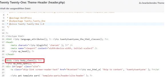 Google Tag Manager Wordpress verbinden body code