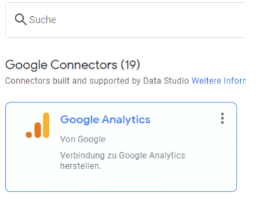 google data studio analytics verknüpfung
