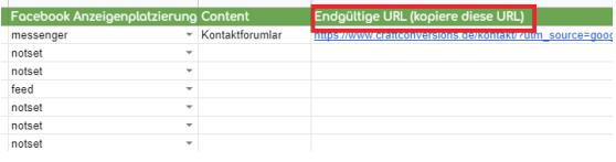 UTM Parameter URL