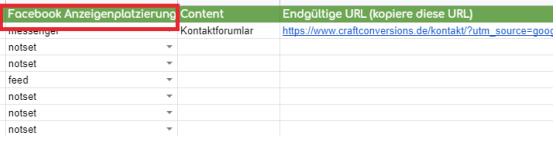 UTM Parameter Facebook Ads