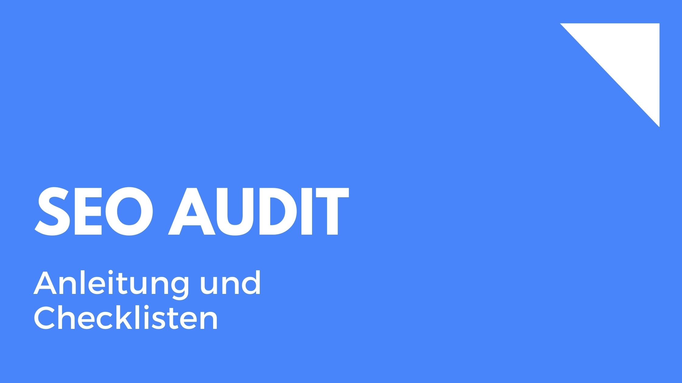 SEO Audit Onpage - Anleitung