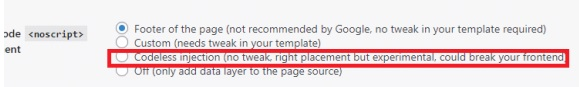 Google Tag Manager Wordpress codeless einbinden