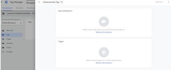 Google Tag Manager Konfiguration