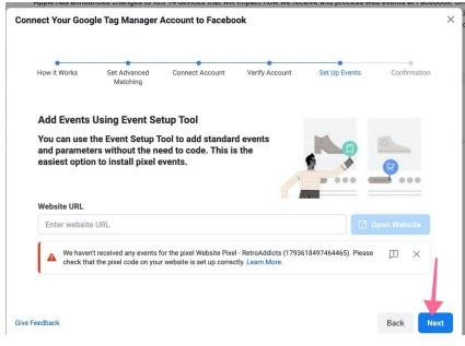 Facebook Pixel Google Tag Manager Events