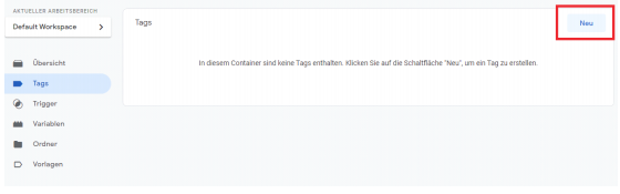 Google Tag Manager neuer Tag