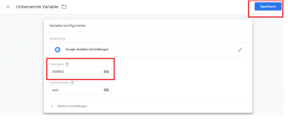 Google Tag Manager Tracking ID