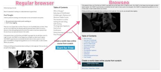 SEO Audit Browserübersicht