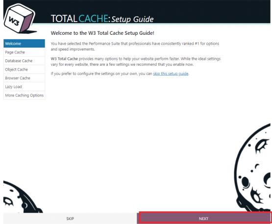 wordpress w3 total cache setup