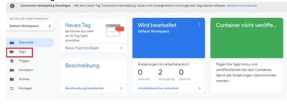 Google Analytics mit dem Google Tag Manager einrichten